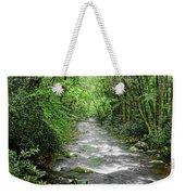 Cool Green Stream Weekender Tote Bag