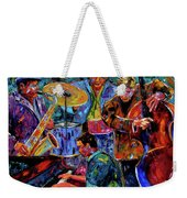 Cool Jazz Weekender Tote Bag