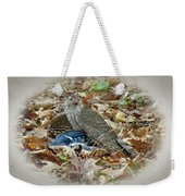 Cooper's Hawk - Accipiter Cooperii - With Blue Jay Weekender Tote Bag