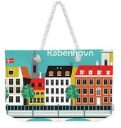Copenhagen Kobenhavn Denmark Horizontal Scene Weekender Tote Bag