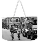 Copenhagen Lovers On Bicycles Bw Weekender Tote Bag