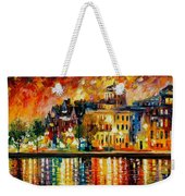 Copenhagen Original Oil Painting  Weekender Tote Bag