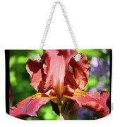 Copper Iris Triptych Squared Weekender Tote Bag