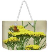 Copper On Yellow - Butterfly - Vignette 2 Weekender Tote Bag