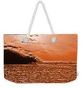 Copper Plate Sunrise Weekender Tote Bag
