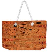 Copper Plates Double Abstract Weekender Tote Bag