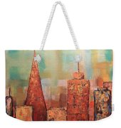 Copper Points, Cityscape Painting Weekender Tote Bag