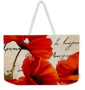 Coquelicots Rouge I Weekender Tote Bag