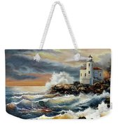 Coquille River Lighthouse At Hightide Weekender Tote Bag