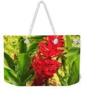 Coral Flower Weekender Tote Bag