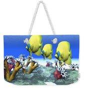 Coral Moods Weekender Tote Bag by Corey Ford