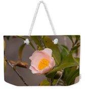 Coral Camellia Weekender Tote Bag