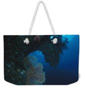 Coral Reef Wall With Seafan And Hard Weekender Tote Bag