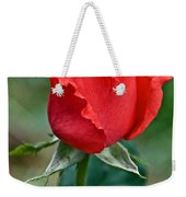 Coral Rosebud At Pilgrim Place In Claremont-california   Weekender Tote Bag