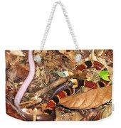 Coral Snake Snack Weekender Tote Bag