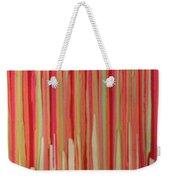 Coral Stripe  Weekender Tote Bag