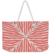 Coral Zebra 2 Weekender Tote Bag