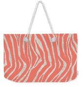 coral Zebra 3 Weekender Tote Bag