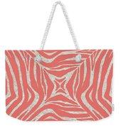Coral Zebra Weekender Tote Bag