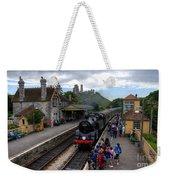 Corfe Castle Station Weekender Tote Bag