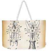 Cork Extractor Patent  1930 Weekender Tote Bag