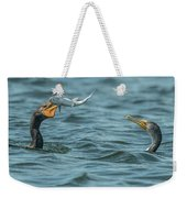 Cormorant Fish Fight Weekender Tote Bag