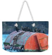 Cormorants On A Barrel Weekender Tote Bag