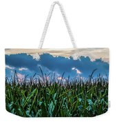 Corn And Clouds Panorama Weekender Tote Bag