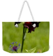 Corn Flower With A Friend Visiting Weekender Tote Bag