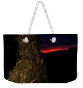 Corn Shock At Setting Sun Weekender Tote Bag