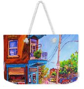 Corner Deli Lunch Counter Weekender Tote Bag
