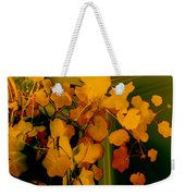 Corner In Green And Gold Weekender Tote Bag