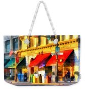 Corner Of Center And Merchant Rutland Vt Weekender Tote Bag