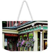 Corner Restaurant With Hanging Plants Weekender Tote Bag