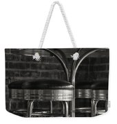 Corner Table - Black And White Weekender Tote Bag