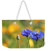 Cornflowers -1- Weekender Tote Bag by Issabild -