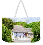 Cornish Thatched Cottage Weekender Tote Bag
