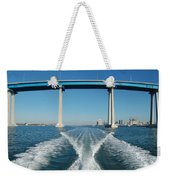Coronado Bridge Wake Weekender Tote Bag