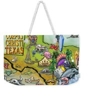 Corpus Christi Texas Cartoon Map Weekender Tote Bag