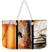 Corrugated Iron Triptych #10 Weekender Tote Bag