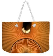 Corrugations In Orange Weekender Tote Bag