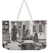Cosimo Medici Sitting In His Home In Florence Weekender Tote Bag