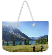 Cosley Ridge Over Cosley Lake - Glacier National Park Weekender Tote Bag