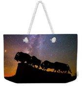 Cosmic Caprock Bison Weekender Tote Bag