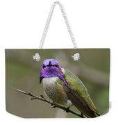 Costa's Hummingbird, Solano County California Weekender Tote Bag
