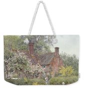 Cottage At Chiddingfold Weekender Tote Bag by Helen Allingham