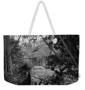 Cottage Black White Gardens Louisiana  Weekender Tote Bag