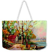 Cottage Country The Eastern Townships A Romantic Summer Landscape Weekender Tote Bag by Carole Spandau