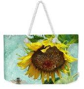 Cottage Garden - Sunflower Standing Tall Weekender Tote Bag