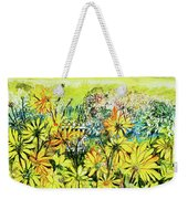 Cottage Gate Seen Through Sun Daisies Weekender Tote Bag